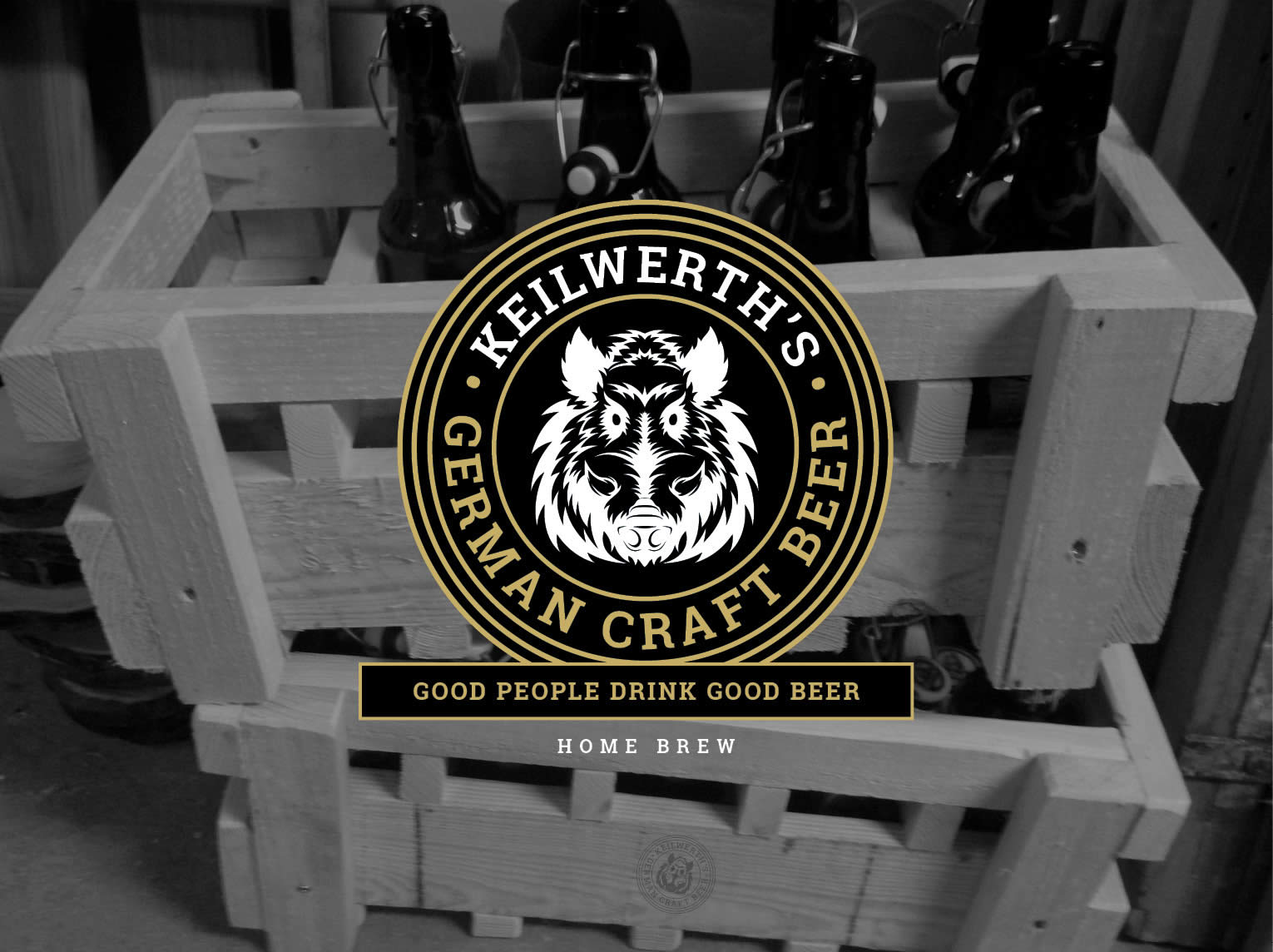 craft beer box with logo