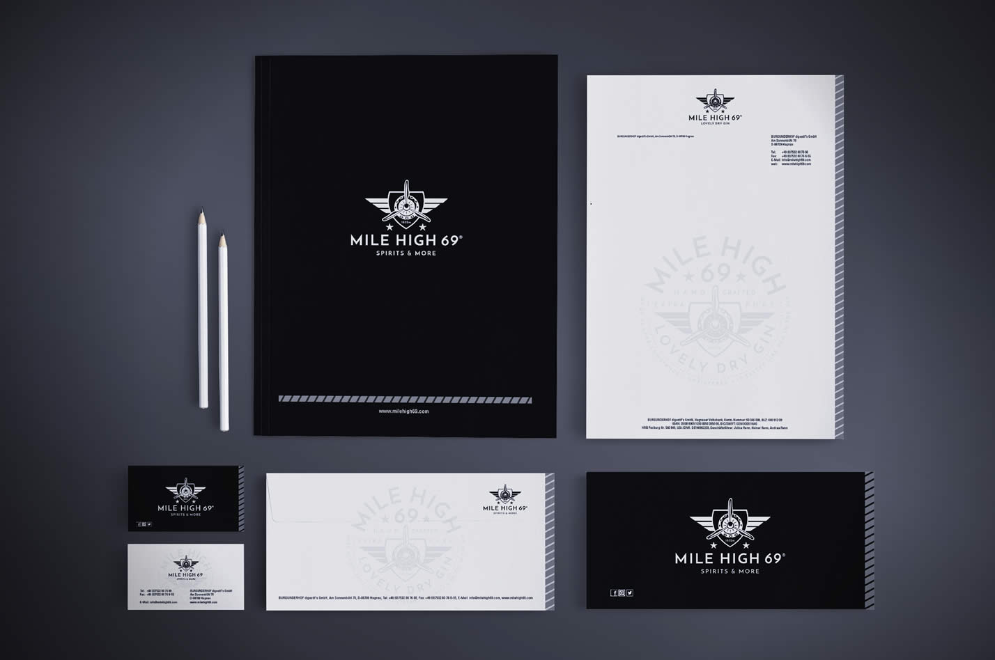 Mile High 69 Gin Corporate Design and Branding