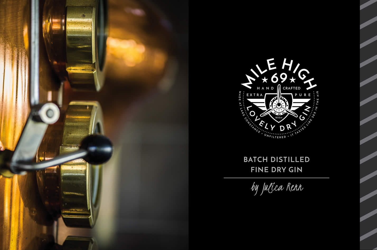 Mile High 69 Gin Logo mit Distillerie