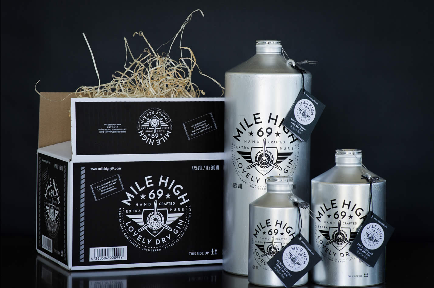 Mile High 69 Gin Design Verpackung Catish Crestive