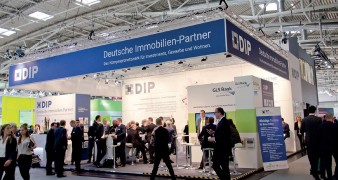 Messestand Deutsche Immobilien-Partner auf der Expo Real