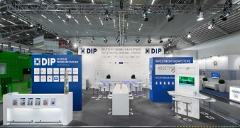 Messestand DIP auf der Expo Real