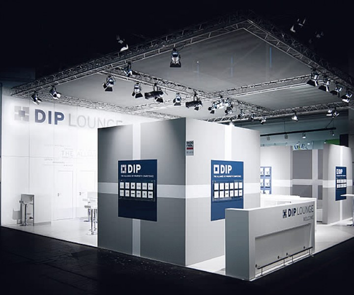 Messestand DIP Expo Real